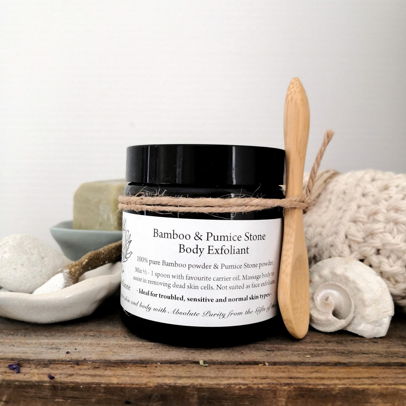 Bamboo powder & Pumice Stone Body Exfoliant