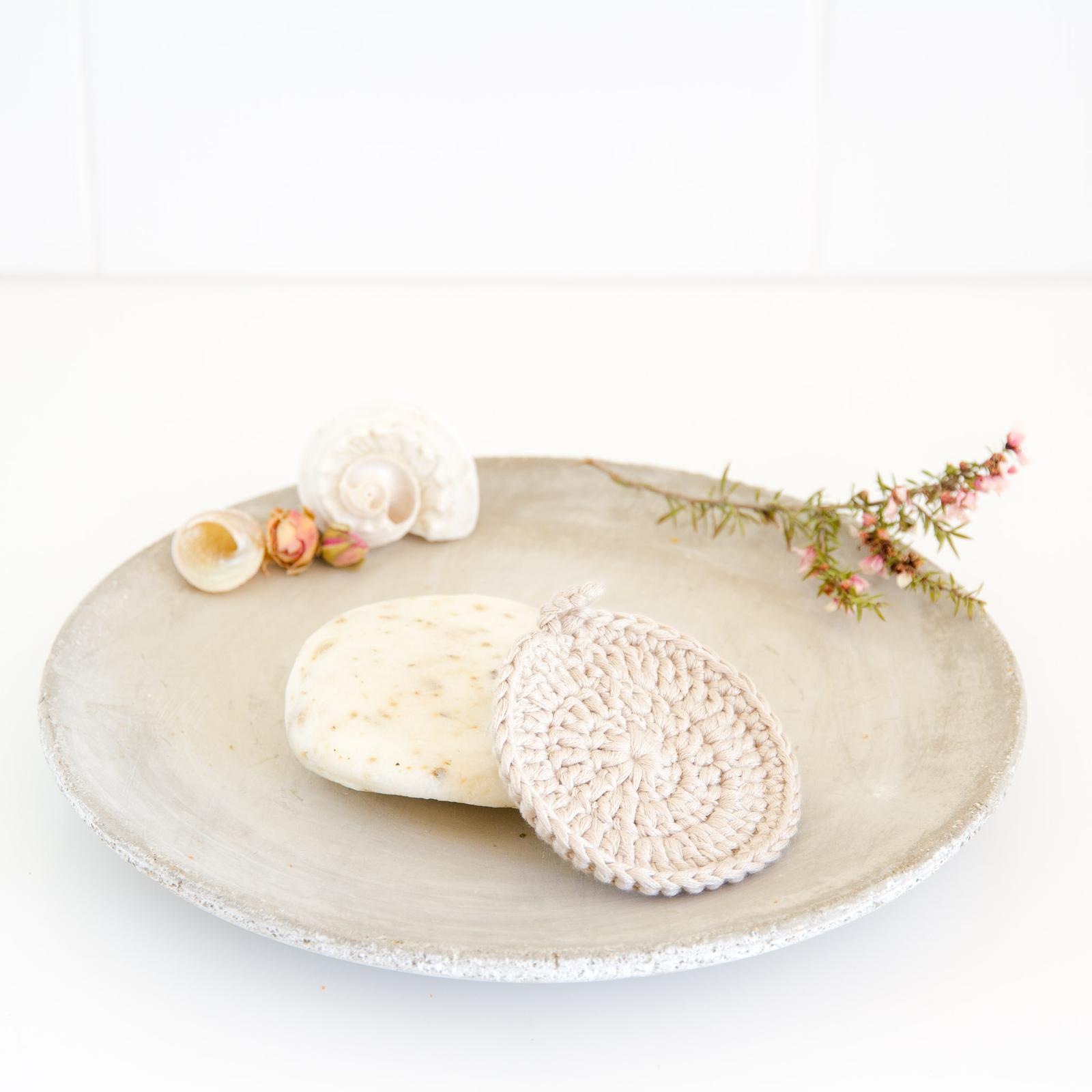 Cotton & Bamboo scrubbie