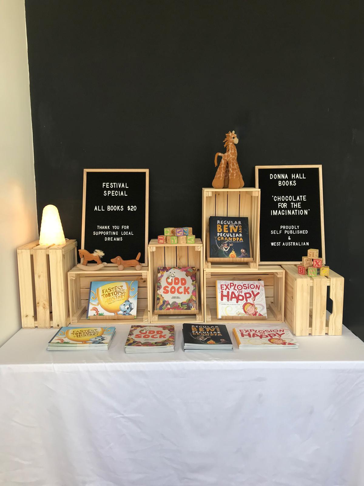 Donna Hall stall display