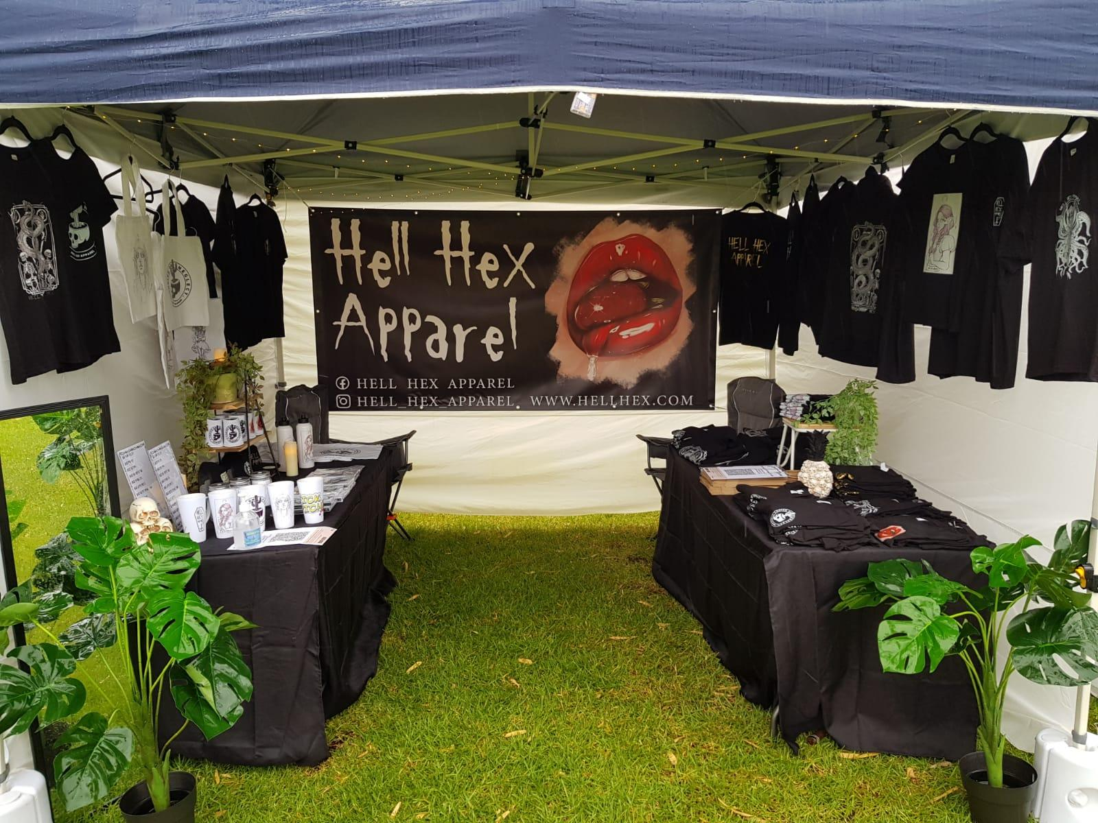 Hell Hex apparel booth
