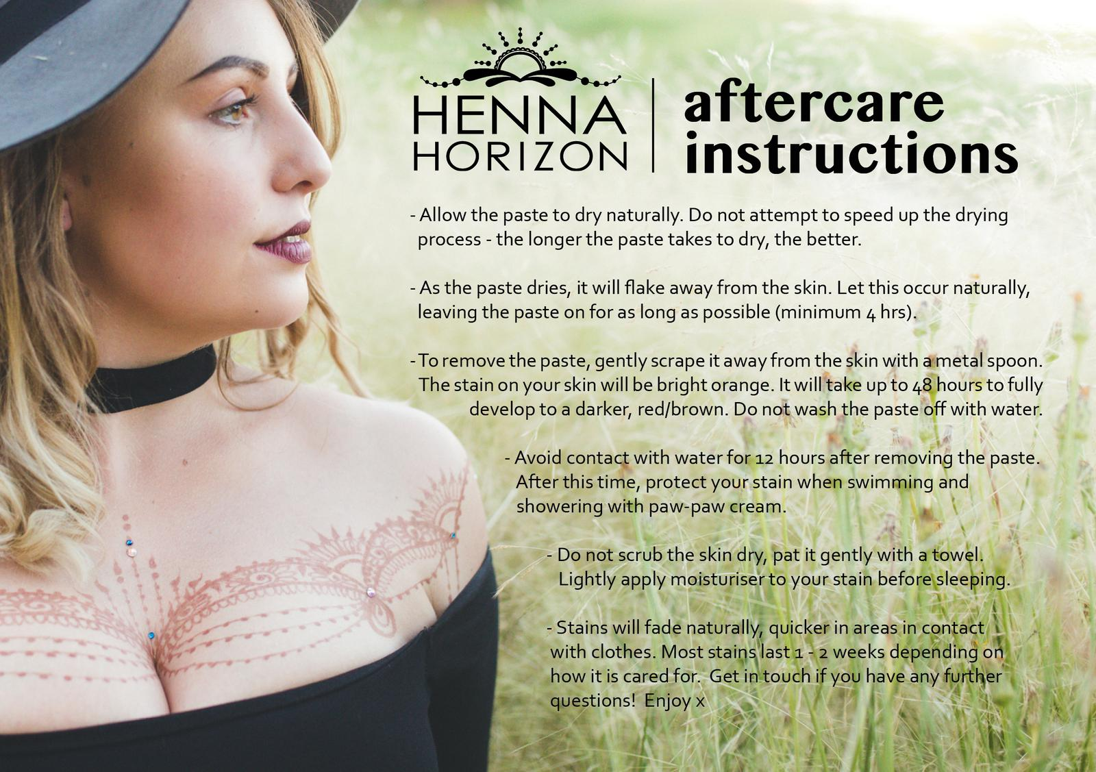 Caring for your Henna