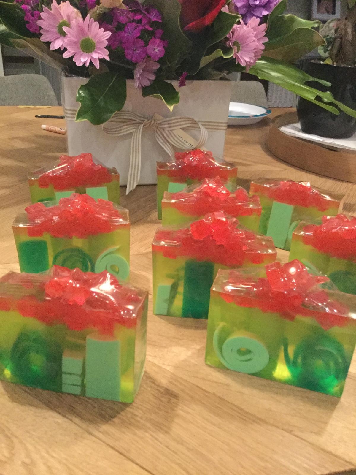 Watermelon & kiwi fruit soap