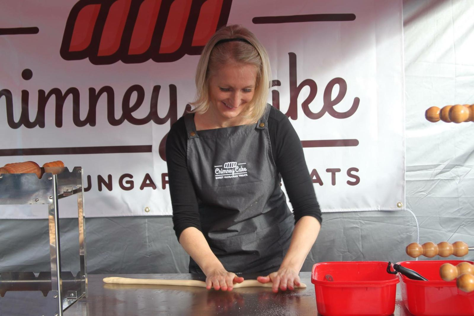 Chimney Cake Dough Rolling