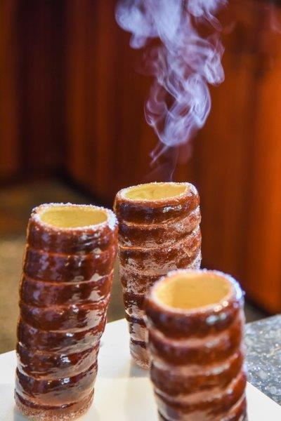 Smoking Chimney Cake - Steaming Hot