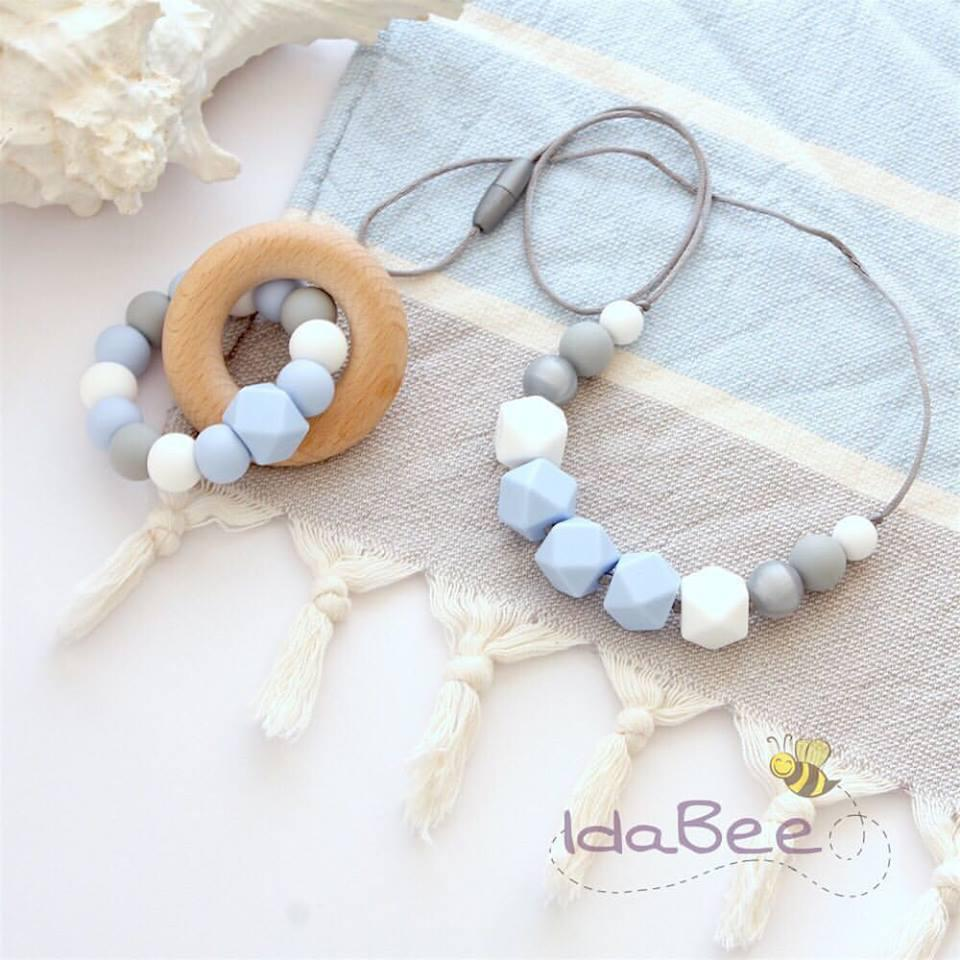 IdaBee Silicone Jewellery Nevada Necklace And Ellipse Teether
