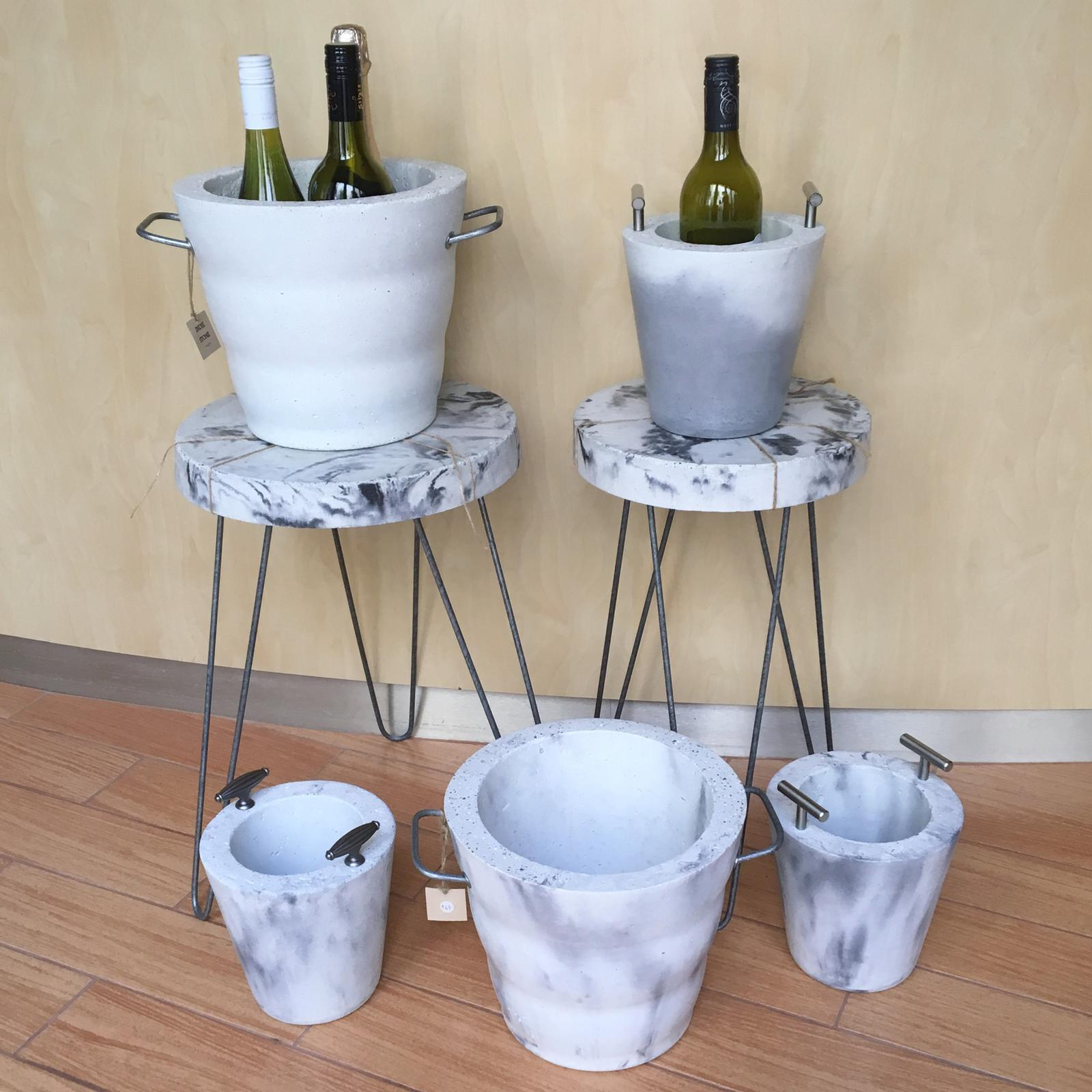 Ice Buckets + Side Tables