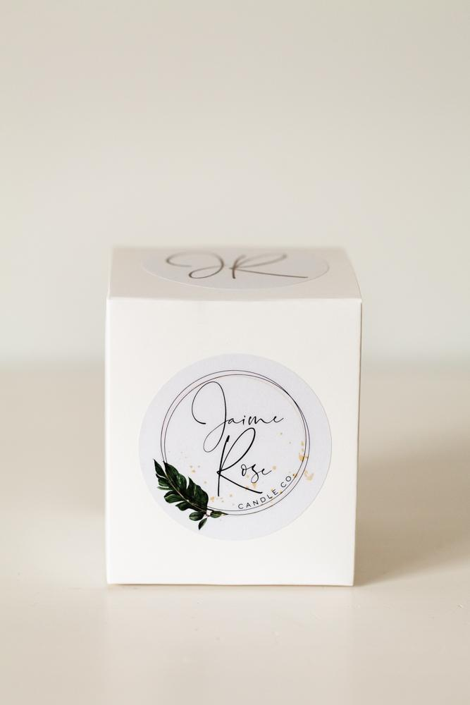 Jaime Rose Candle Co. packaging