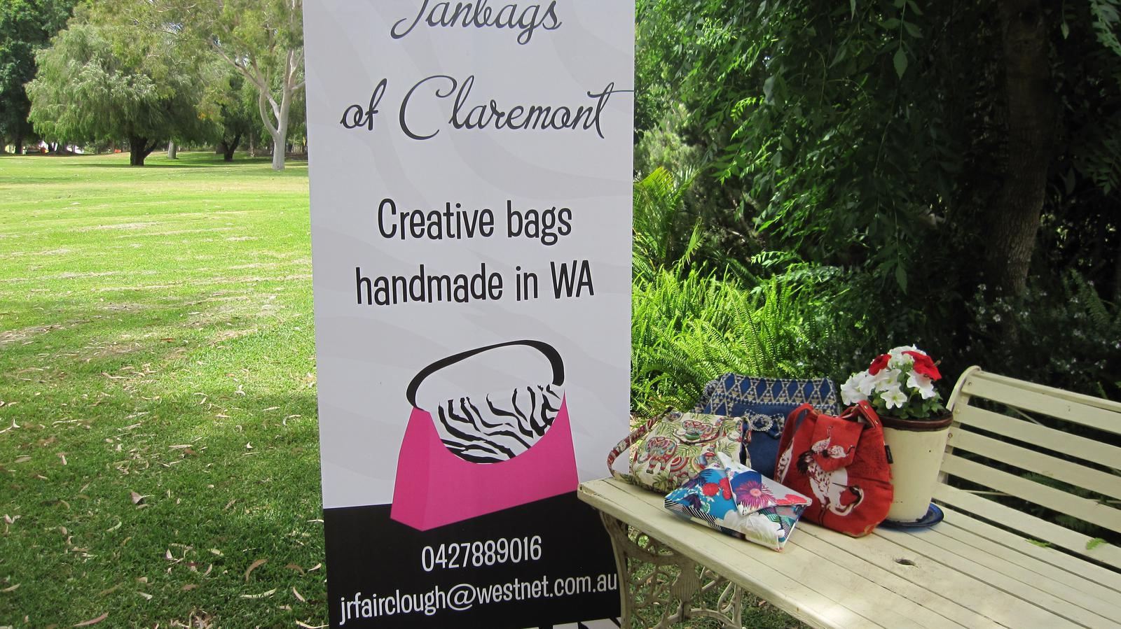 I design and make all my bags in Claremont WA