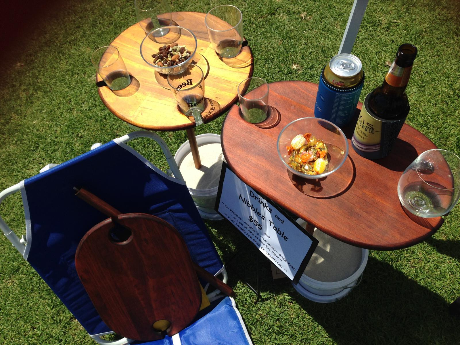Picnic-Concert-Beach-Backyard Drinks & Nibbles Table
