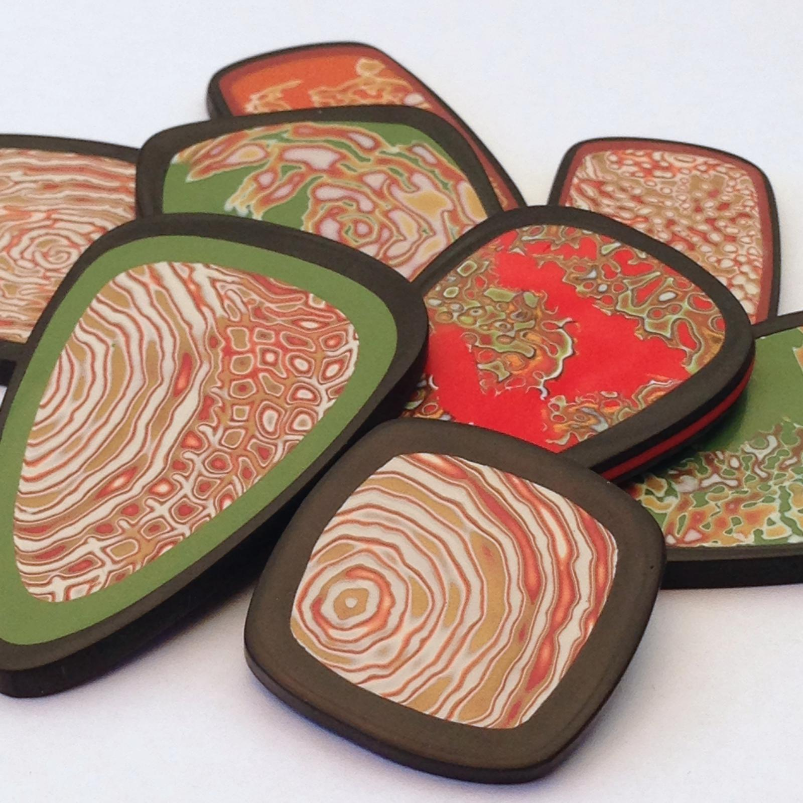 Ripple Range of handmade Polymer clay Jewellery By Jay's Creations