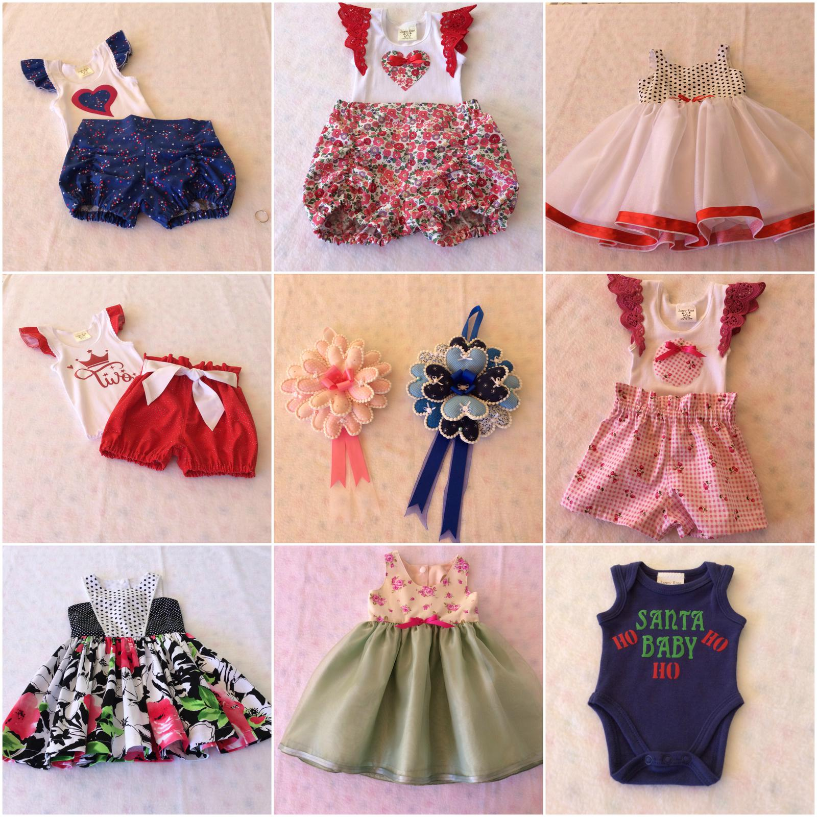 Top and matching shorts sets, New Born Baby girls and boys hanging plaques, etc