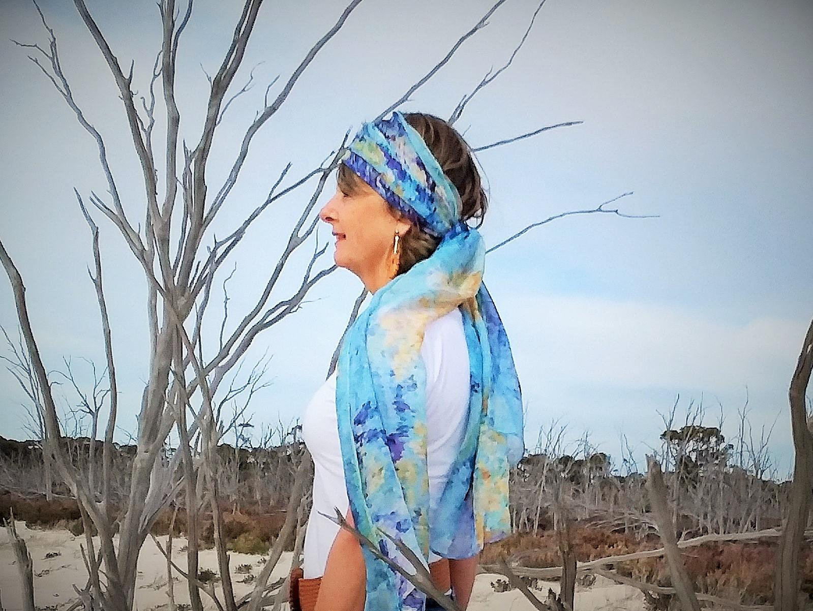 Salt Lakes Silk Scarf