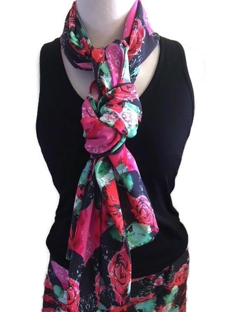 Roses Scarf & Beach Wrap