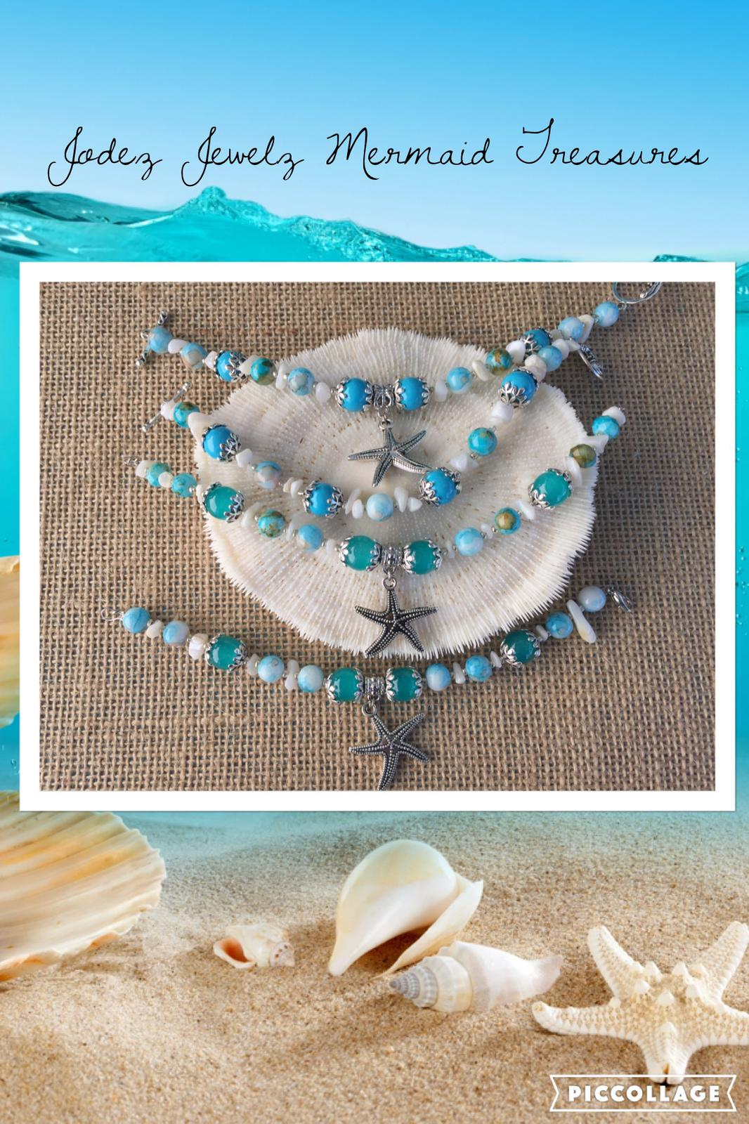 Beachy Glass and Gemstone Bracelets
