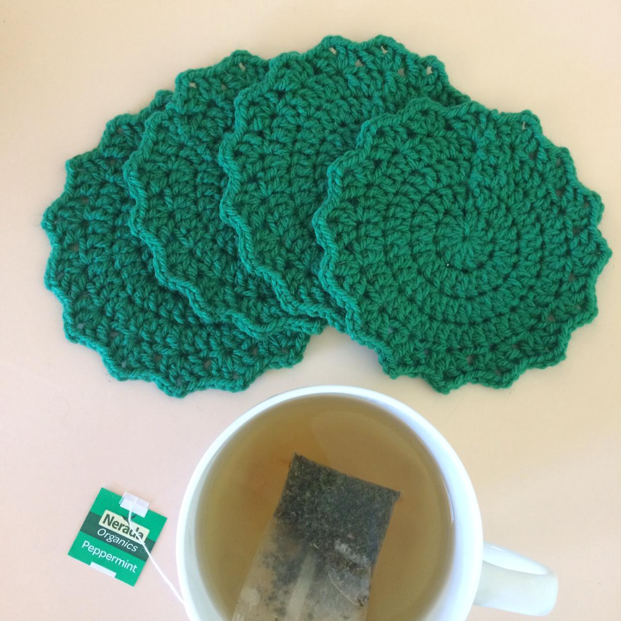 Crochet Coaster Set x 4