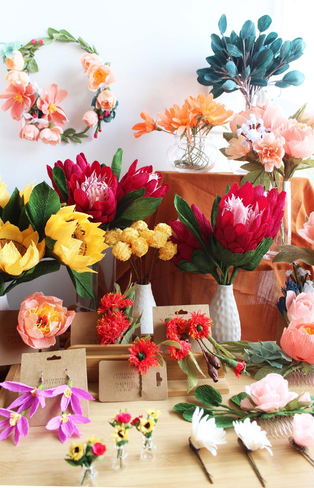 Jotterbook Flowers Stall Display, photographed by Carrissa Wu