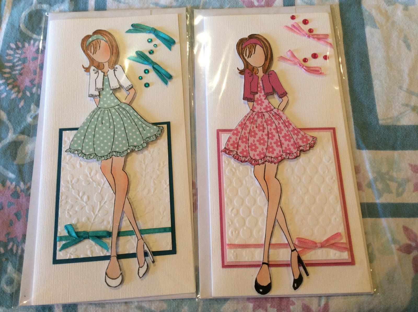 Two girl cards