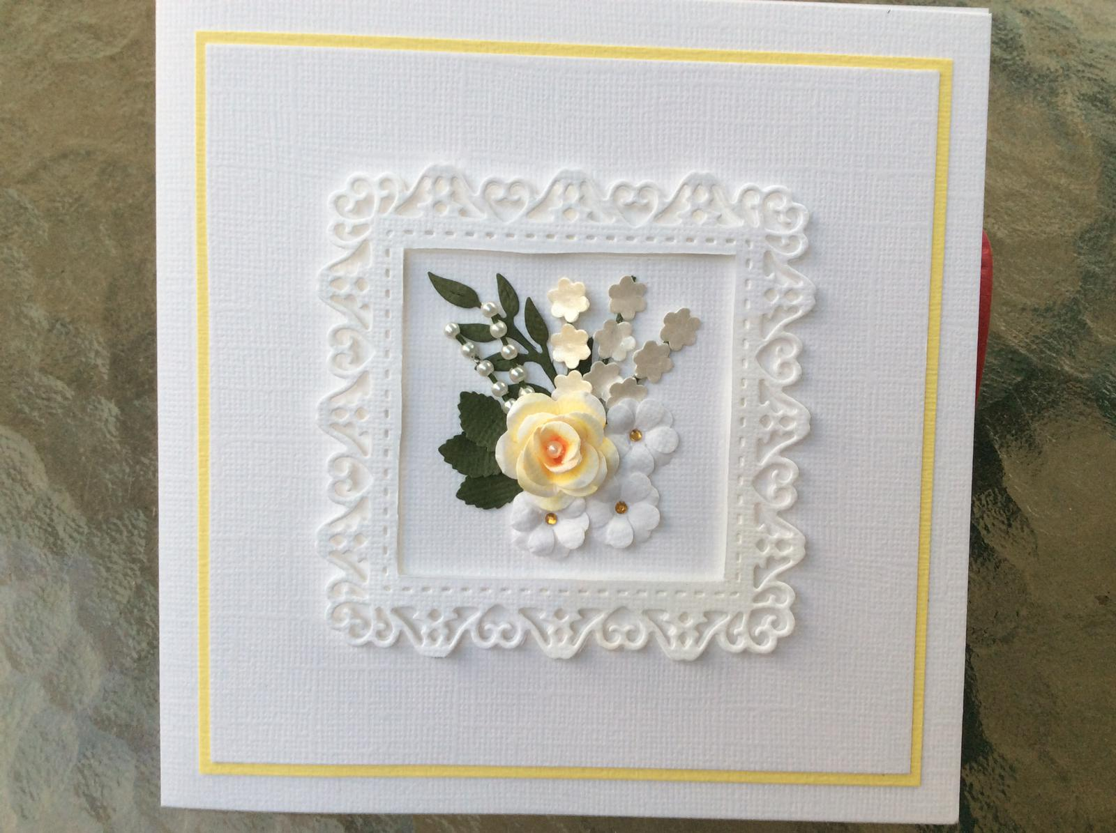Hand made Flower Card