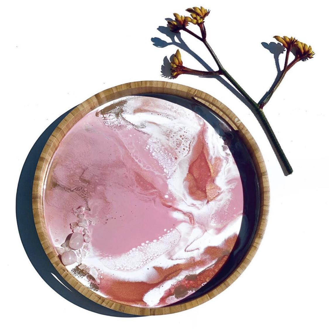 Rose Quartz Drinks Tray