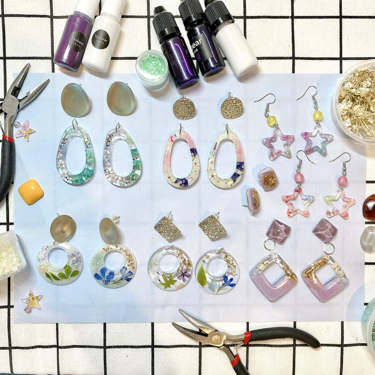 Handmade resin earrings