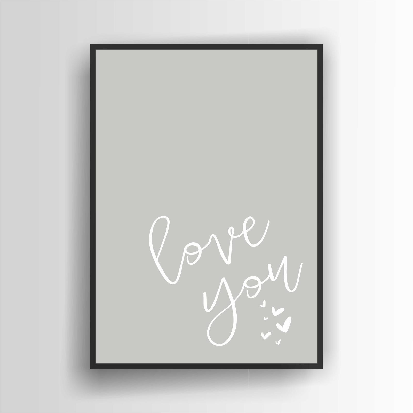 Love You Print