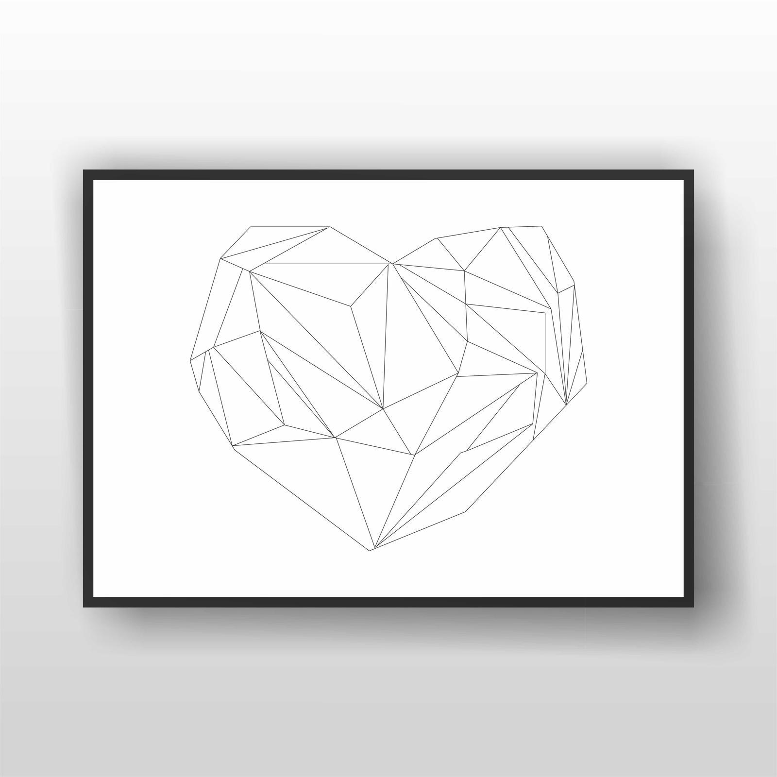 Geometric Heart Print