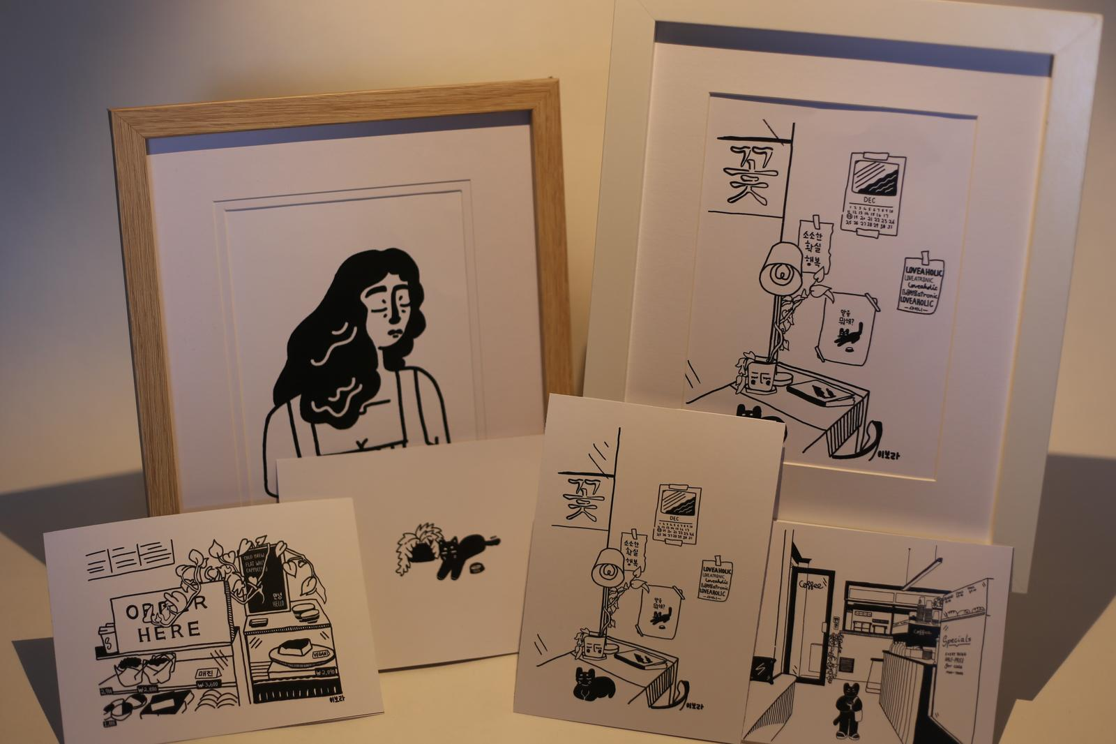 Kikitsa Draws frames and postcards