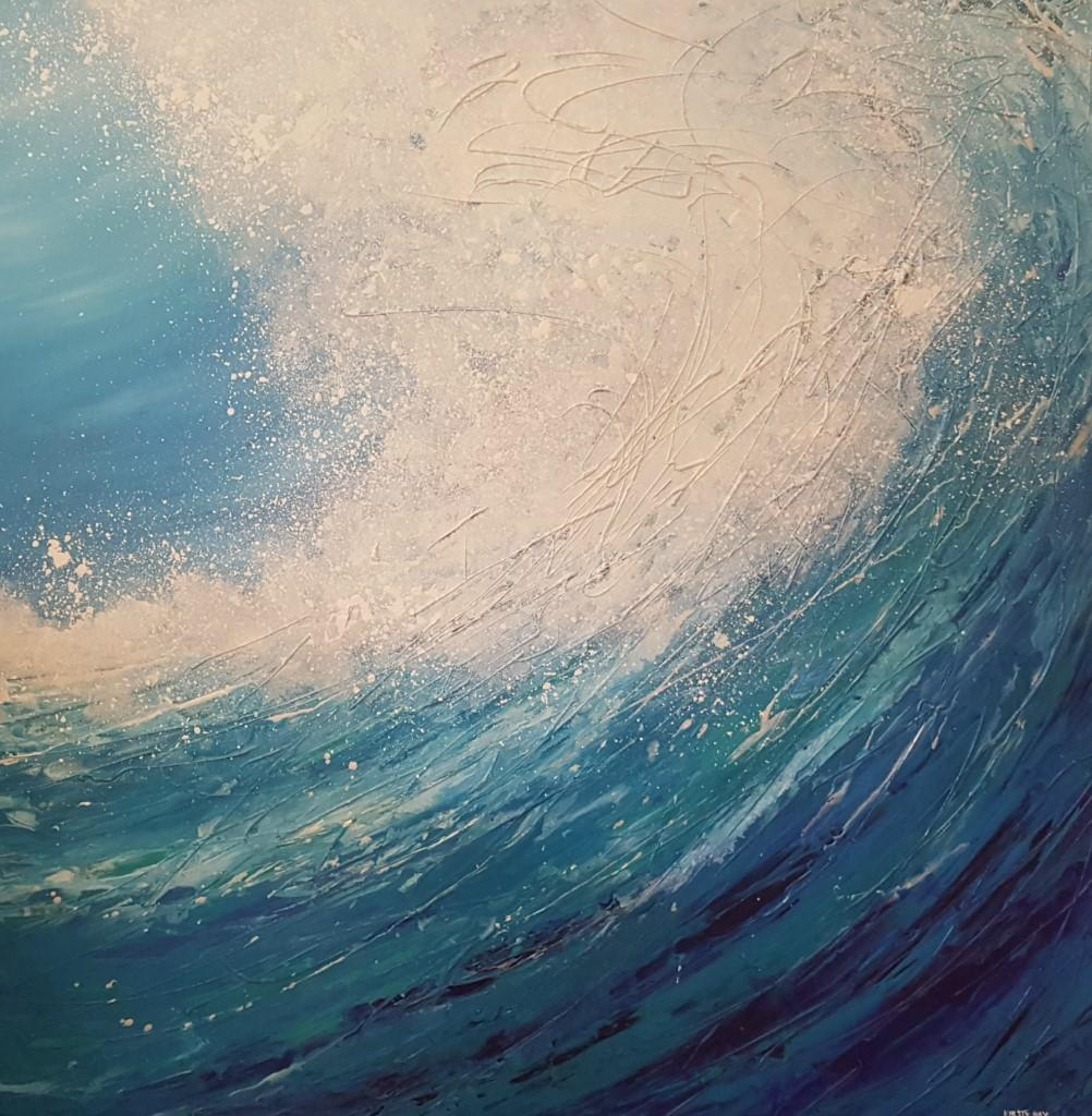 "Abstract Art Painting ""Rolling Waves"""