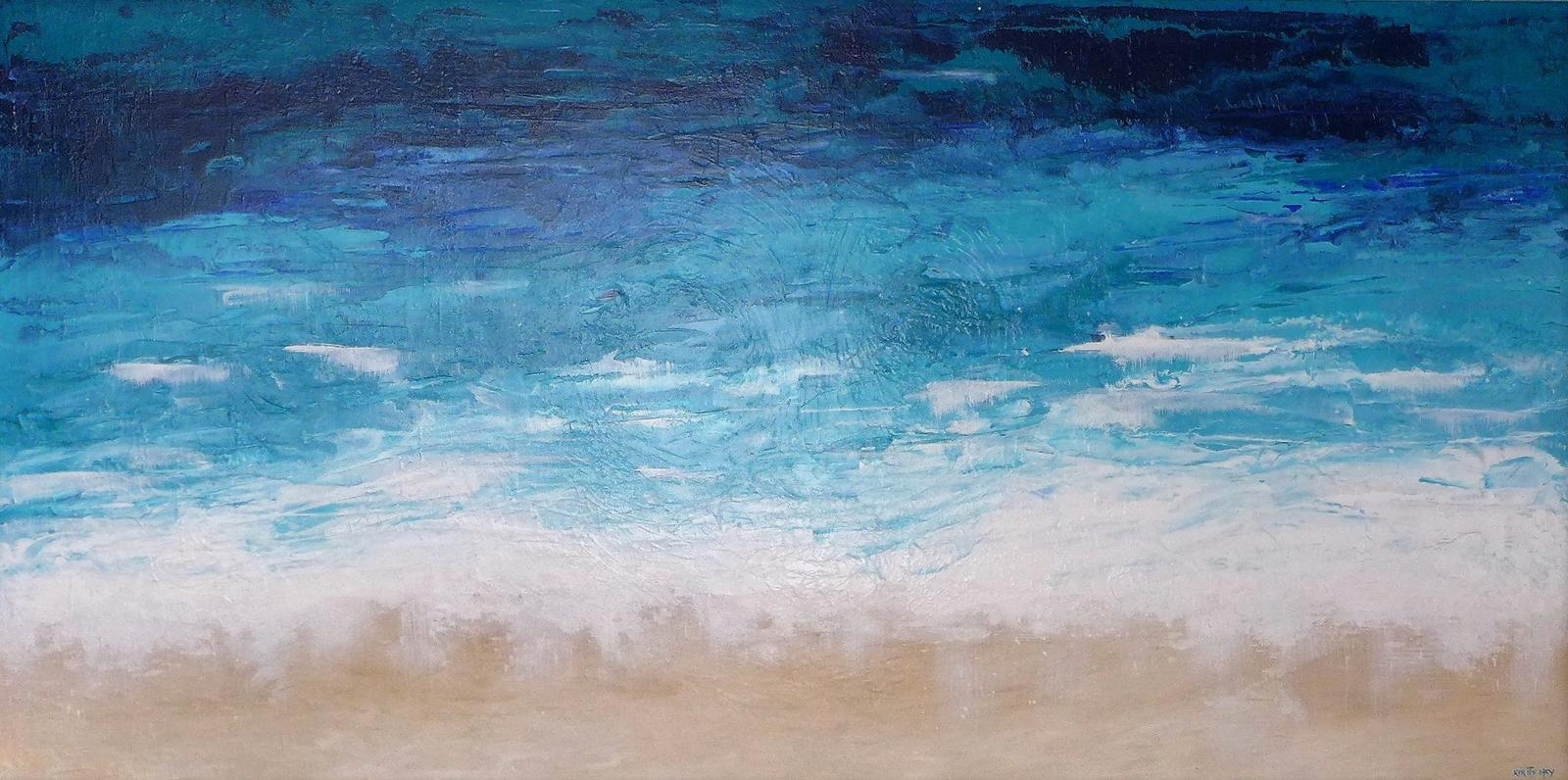 "Abstract Art Painting ""Aerial Ocean"""