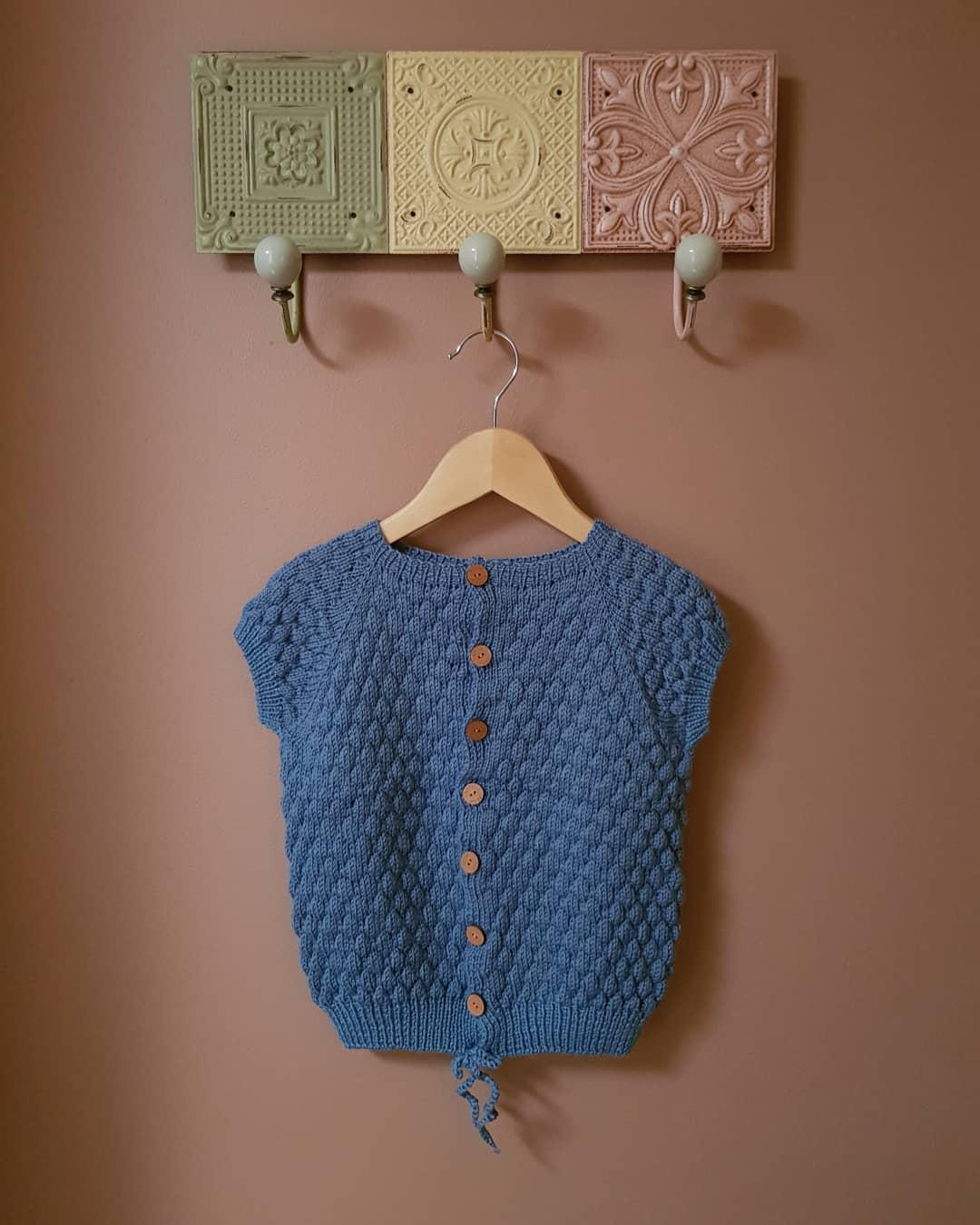 The Blauwe Bessen ~ Blueberry vest