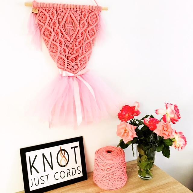 Unique Pink Ballerina Wall Hanging