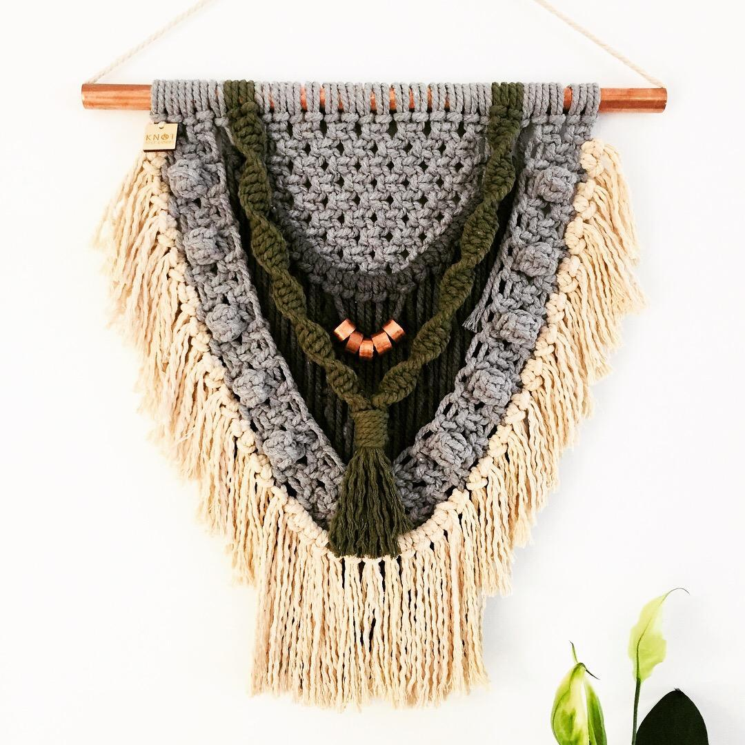 Multi Colour Copper Boho Wall Hanging
