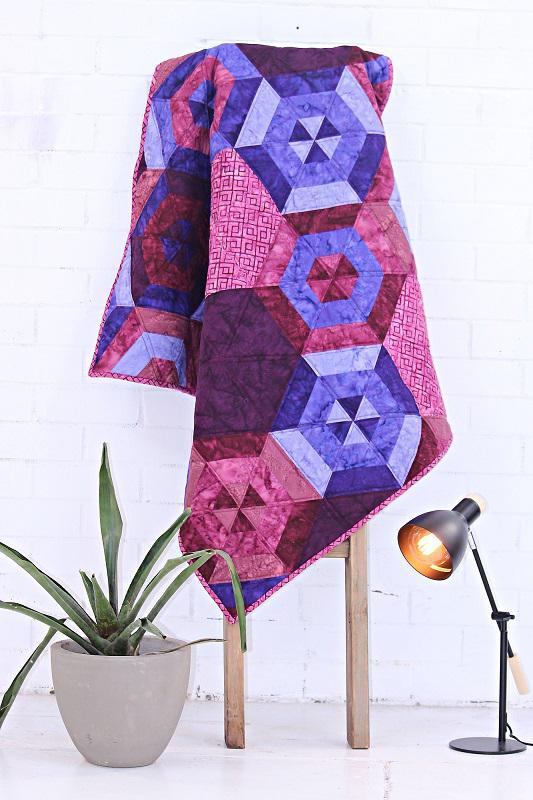 Purple Hexagon Quilt