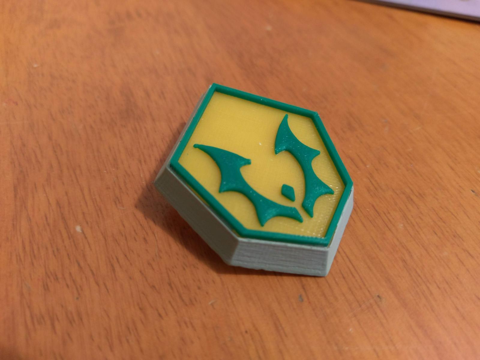 3D printed Force Captain badge