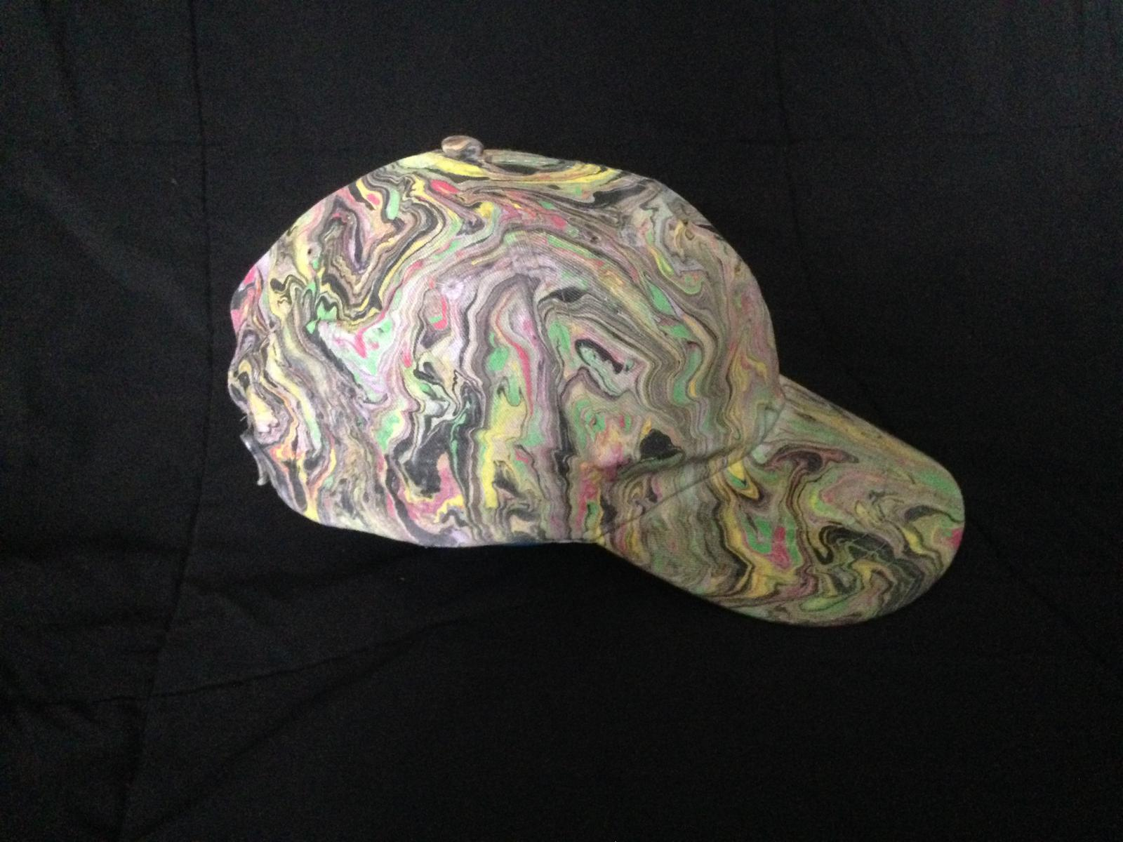 Premarbled hats