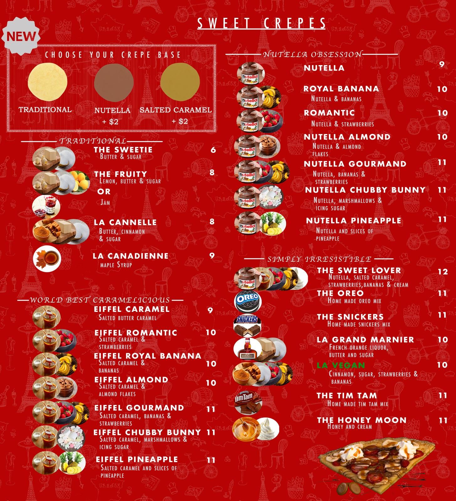 Our Sweet Menu