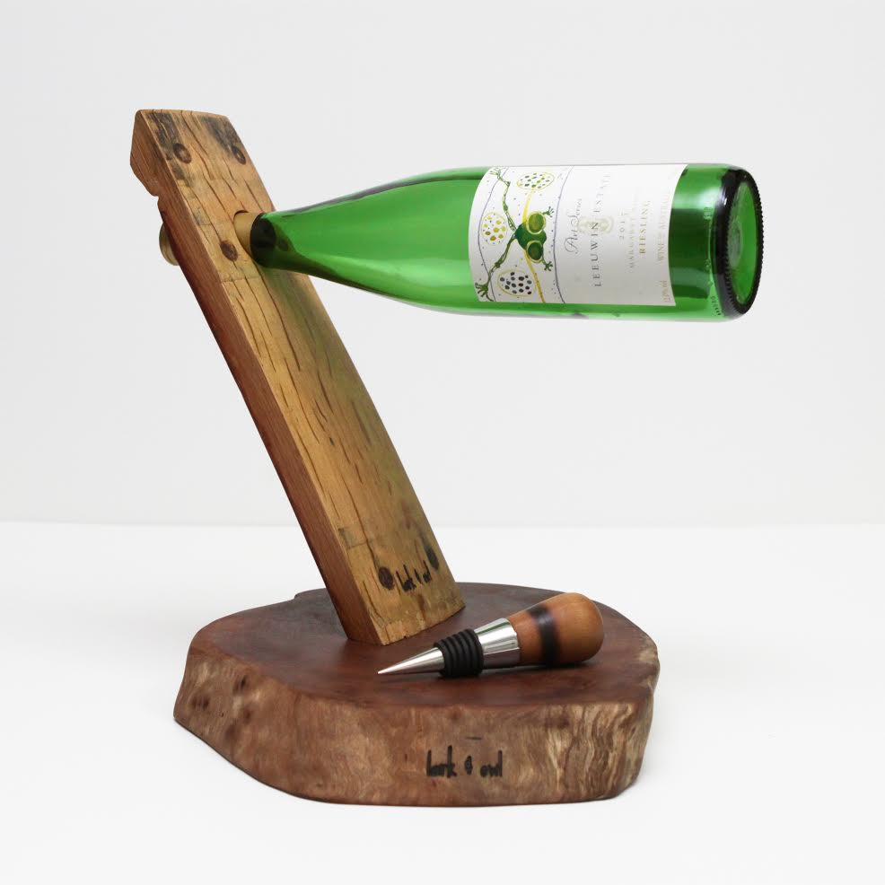 Bottle Balancer, Bottle Stopper & Log Slice Bundle