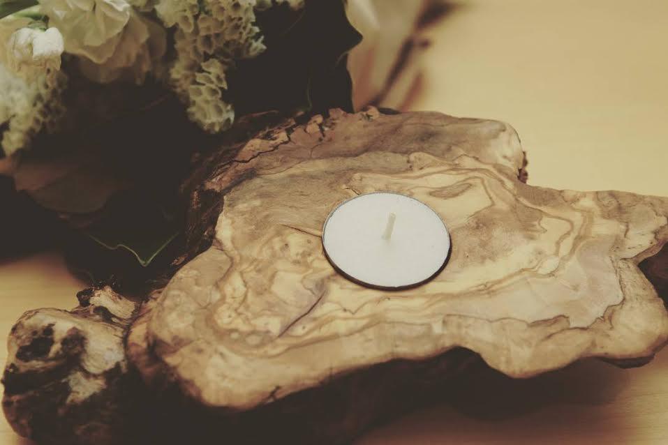 Olive Candle Holder