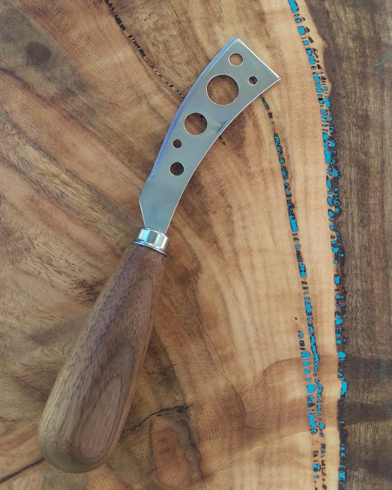 Marri Cheese Board & Turned Black Walnut Cheese Knife