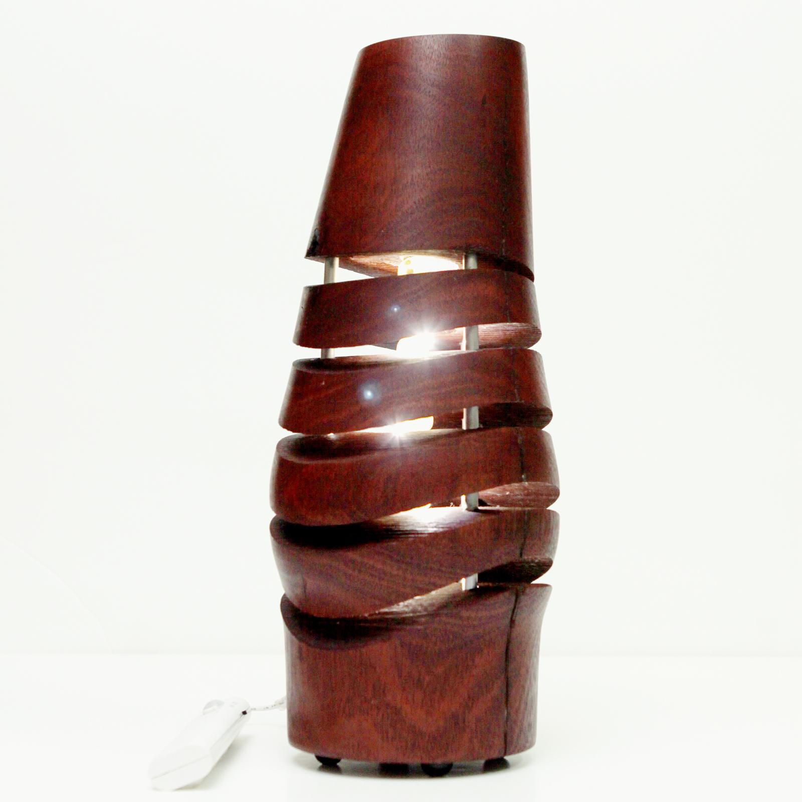 Turned Jarrah Lamp
