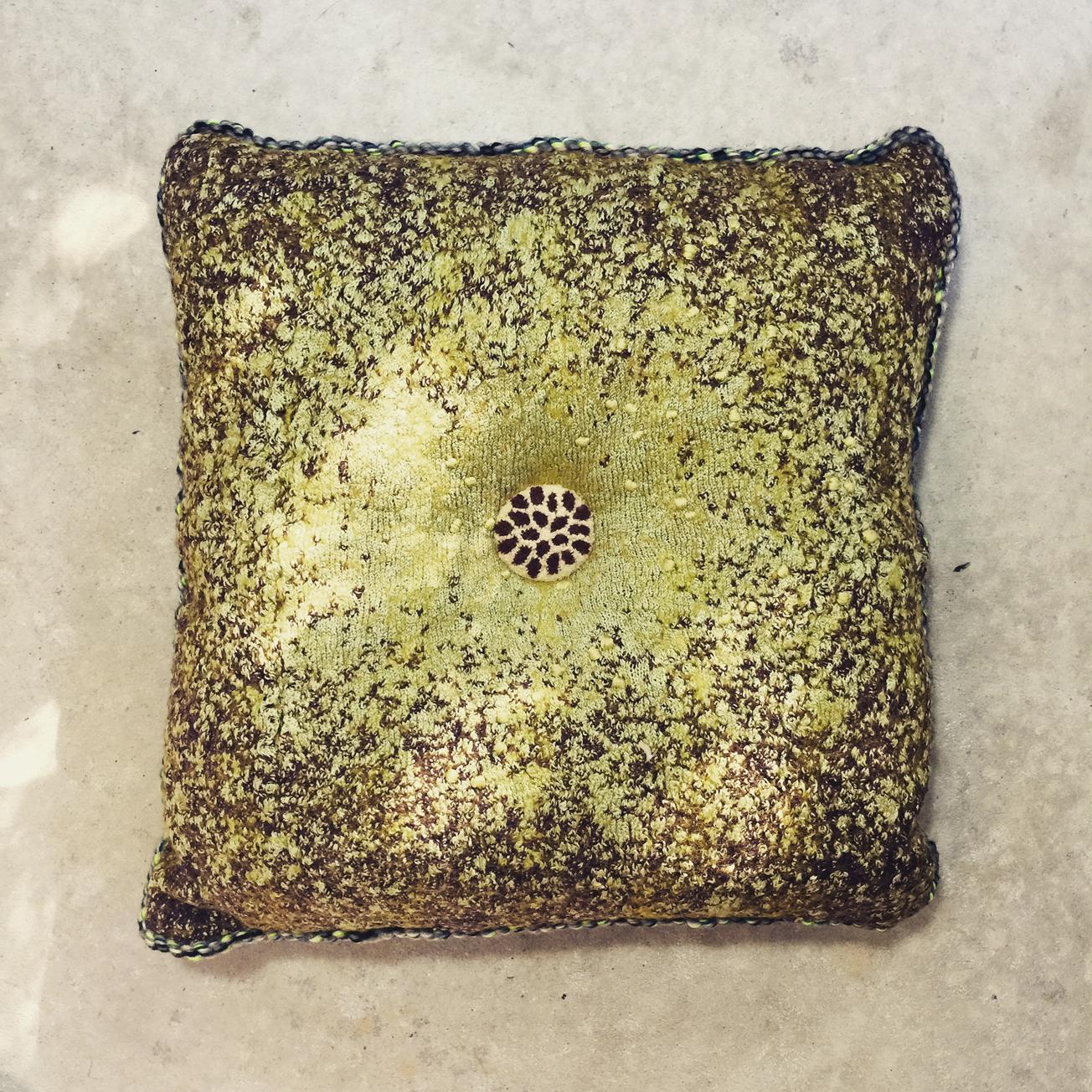 A Forester's Symphony - handmade textile cushion
