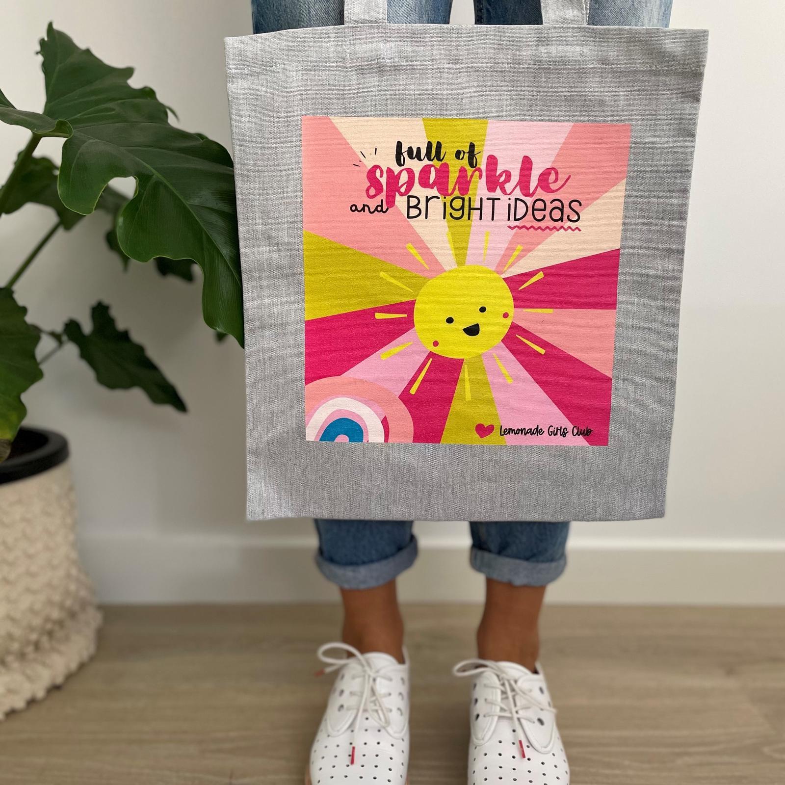 Lemonade Girls Club Sparkle Tote Bag