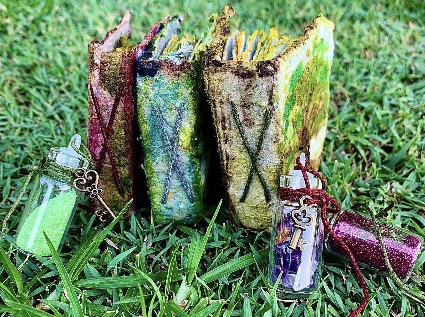 Mini handmade paper fairy journals