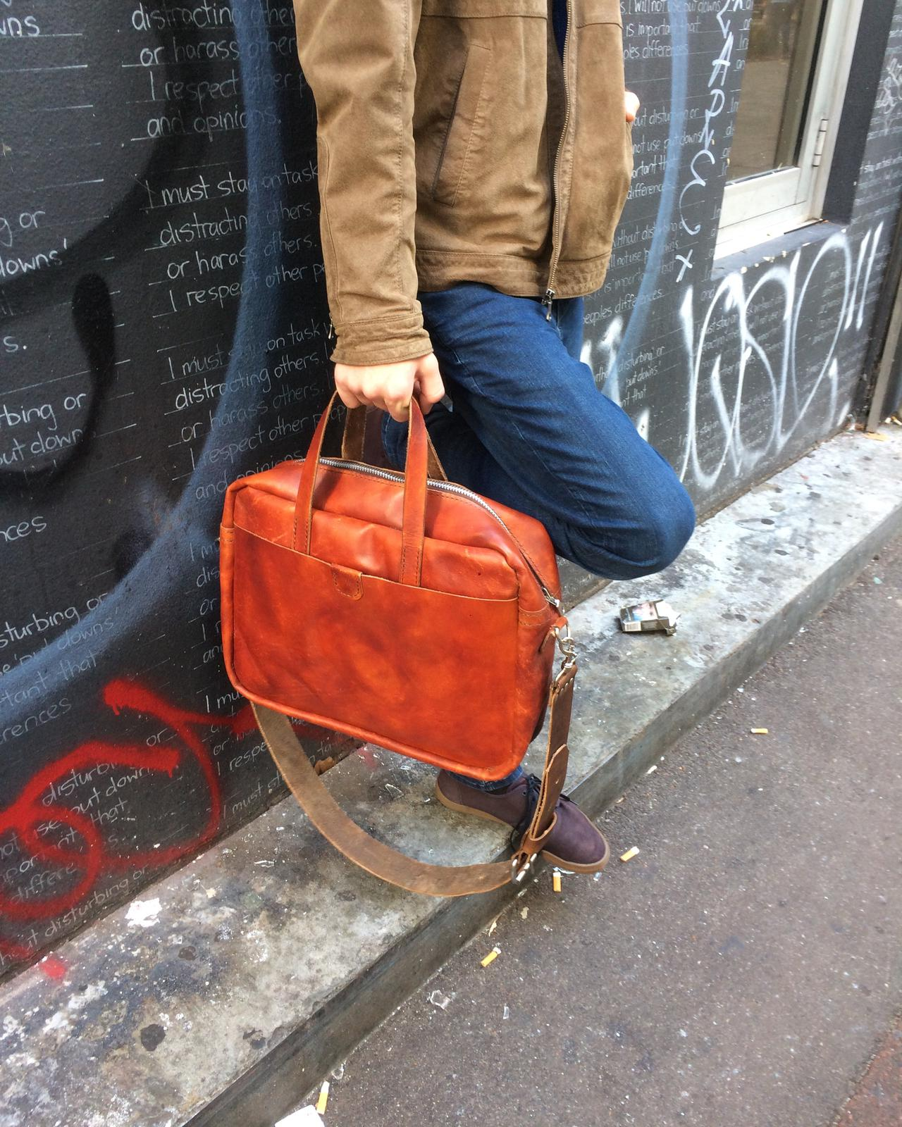 Dante - Zippered Briefcase