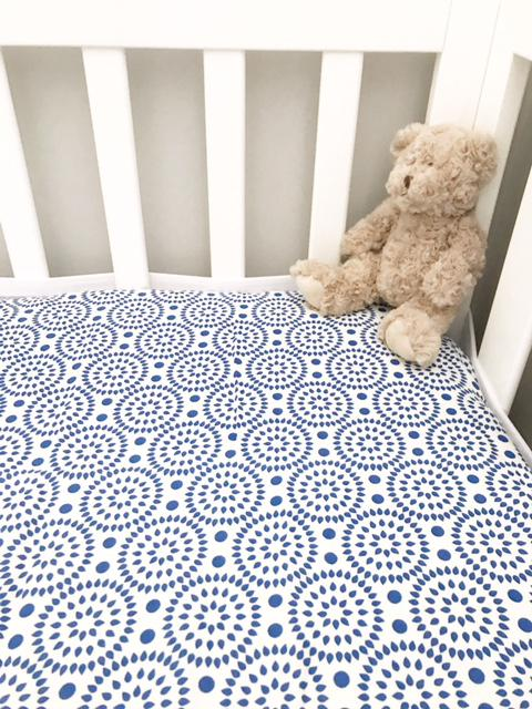 Blue Aztec Fitted Cot Sheets