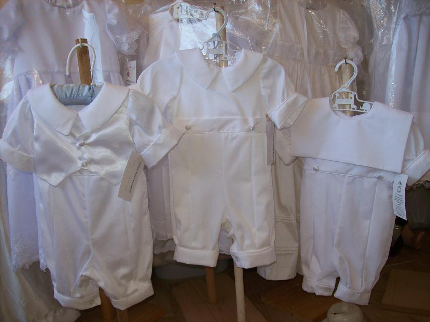 Boys baptism rompers