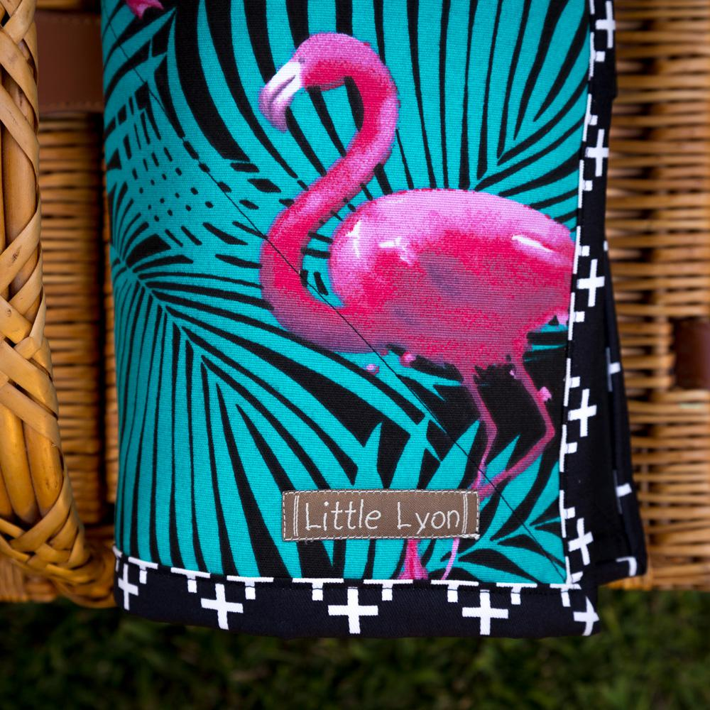 Tropical Flamingo Picnic Blanket