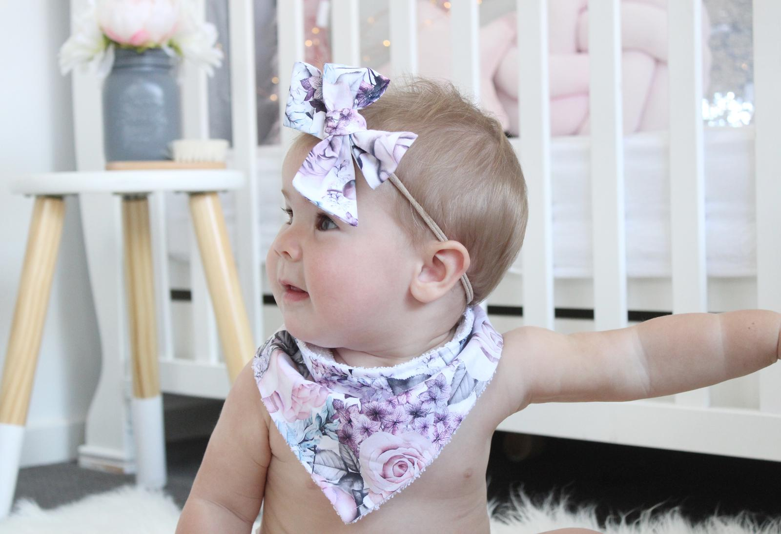 Floral Bandana Bibs & Burp Cloths