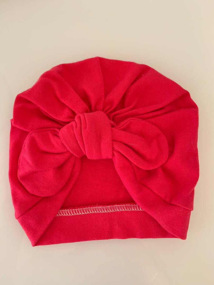 Raspberry Bunny-bow Turban