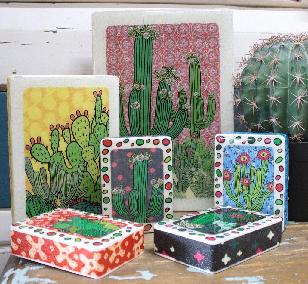 Cactus Woodblocks